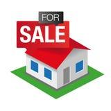 Till salu symbol för hus Arkivfoto