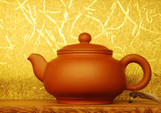 Till salu Teapot Arkivfoto