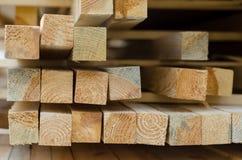 Till salu Wood strålar Arkivfoto