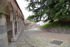 Till slotten av Udine Italien Royaltyfri Fotografi