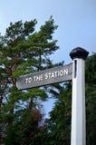 Till stationen. Arkivfoton