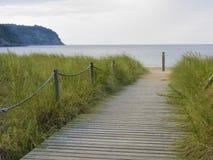 Till stranden Royaltyfria Foton