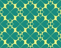 Till and yellow heart pattern. Till and yellow coloured hearts pattern design for especially wallpaper pattern for whatsapp background Stock Photos
