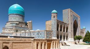 Tilla-Kari medressa - Registan - Samarkand - Uzbekistan Royalty Free Stock Photo