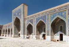 Tilla-Kari medressa - Registan - Samarkand - Uzbekistan Royalty Free Stock Image