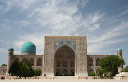 Tilla-Kori Madrasah, Samarkand fotografia de stock