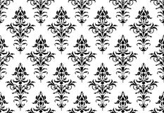 Tillable seamless Victorian Wallpaper Stock Image