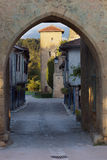 Tillac. The old fortified village of Tillac in the Gers, France. Going back to the 11th century, this picturesque medieval town boasts a cobbled stones street stock photography