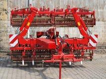 Tillage machine - cultivator. Czech Republic Stock Photography