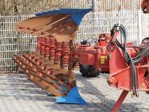 Tillage machine - plow. Czech Republic Royalty Free Stock Images