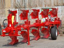 Tillage machine - plow. Czech Republic Stock Photography