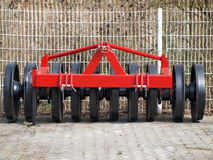 Tillage machine - ramming silage. Czech Republic Royalty Free Stock Images