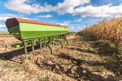 Tillage tool called fundamental rotovator for harvesting potatoTillage tool called rotovator. A rotovator serves, mainly, to prepa royalty free stock image