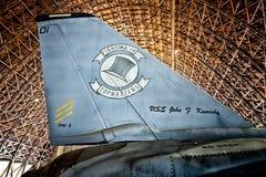 Tillamook海军航空兵驻地格鲁门公司F-14A雄猫尾巴 免版税库存图片