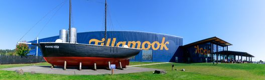Tillamook Cheese Factory building, on central Oregon coast. stock image