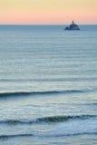 Tillamook Rock Light Dusk, Oregon Surf Royalty Free Stock Image
