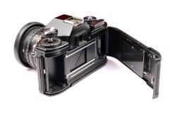 tillbaka öppen kamerafilm Arkivfoto