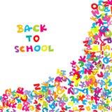 tillbaka bakgrund letters skolan till Arkivfoto