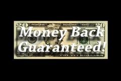 tillbaka begrepp garanterade pengar Royaltyfri Bild