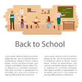 tillbaka begreppsskola till vektor illustrationer
