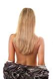 tillbaka blont hår Royaltyfri Foto