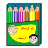 tillbaka blyertspennaskola till Arkivbild