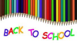 tillbaka blyertspennaskola till Royaltyfri Foto