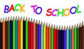 tillbaka blyertspennaskola till Royaltyfria Foton