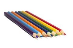tillbaka blyertspennaskola till white Arkivfoton