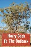tillbaka brådska outback till Arkivbilder