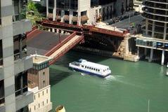 tillbaka bro tecknade chicago Royaltyfri Fotografi