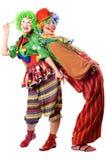 tillbaka clowner till två Arkivfoto