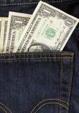tillbaka dollar fack Royaltyfri Fotografi