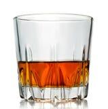 tillbaka druvor för exponeringsglas för bakgrundsflaskcognac Royaltyfria Bilder