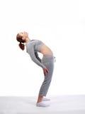 tillbaka elasticitetskvinnabarn arkivfoton