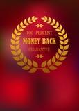 Tillbaka emblem för pengar i krans Royaltyfri Fotografi