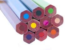 Tillbaka färgpenna Fotografering för Bildbyråer