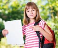 tillbaka flickaskola till Fotografering för Bildbyråer