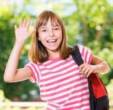 tillbaka flickaskola till Royaltyfria Bilder
