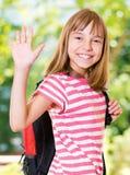 tillbaka flickaskola till Royaltyfri Foto
