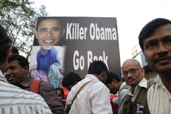 Tillbaka går Barak Obama Royaltyfria Bilder