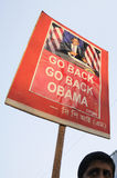 Tillbaka går Barak Obama Royaltyfria Foton