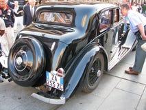 tillbaka gammal bentleybil Royaltyfri Bild