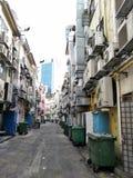 Tillbaka gränd på den runda vägen, Singapore Arkivbild