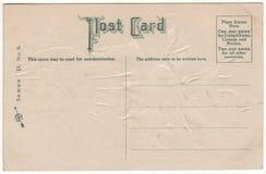 Tillbaka grön stilsort 1910 för viktoriansk vykort Royaltyfri Fotografi