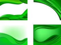 tillbaka grön wave Fotografering för Bildbyråer