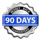 tillbaka guaranteeetikettpengar Arkivbild