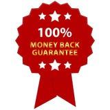 tillbaka guaranteepengar Fotografering för Bildbyråer