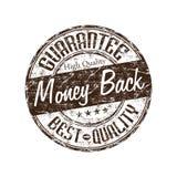 tillbaka guaranteepengarstämpel Arkivbilder