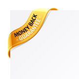 tillbaka guaranteepengartecken Royaltyfri Fotografi